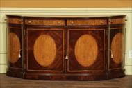 Large 18th century satinwood inlaid side cabinet