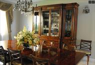 Thedore Alexander China cabinet and chairs