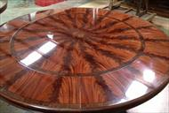 62-88 round dining table seats 10-12 people