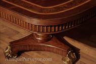 Corner details on a regency style dining table