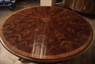 Round antique reproduction dining table