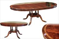 60 round mahogany dining table with leaf
