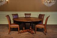 Encore IHF 78-42 Jupe Table with matching leather chairs