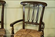 rustic chair, walnut finish