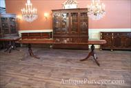 Mahogany dining table with three extensions