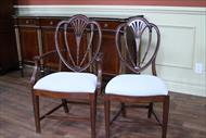 This popular style chair is hard to find as genuine antiques, especially in larger sets of 8 and 10