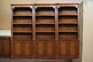 Walnut bunching bookcases