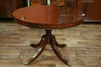 mahogany drum table, 44