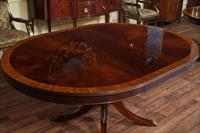 66 Mahogany Oval Table Walnut Finish