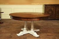 Country jupe table with painted base