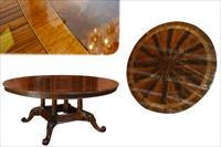 Round American mahogany table