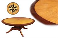 Fine round satinwood dining table