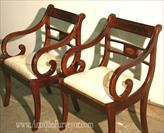 Duncan Phyfe Inlaid Dining Chairs