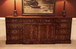 High End Flame Mahogany Sideboard. An Amazing 18th Centruy Replica