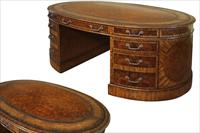 Maitland-Smith Walnut Burl Partners' Desk 8108-53