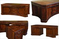 large expensive partners desk antique reproduction
