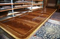 16 foot American made, fine dining table shown fully opened
