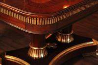 Mahogany dining room sets look rich in dim lighting