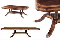satinwood inlaid mahogany dining table