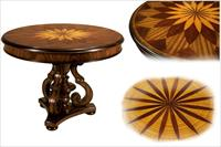 Starburst inlaid center table