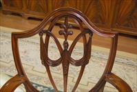 Mahogany shield back dining room chair details