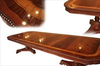 Narrow 10 foot satinwood inlaid dining table