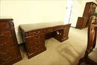 Matching mahogany office furniture