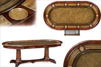 Jonathan Charles Poker table for Sale, Showroom Sample