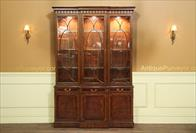 traditional mahogany china cabinet