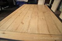 Pickled trestle table