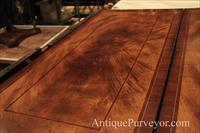 10 foot antique reproduction walnut dining table