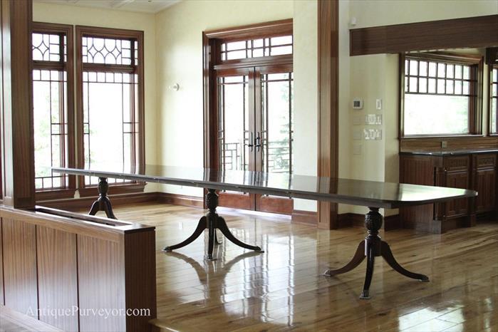 10 To 18 Extra Large Mahogany Dining Room Triple