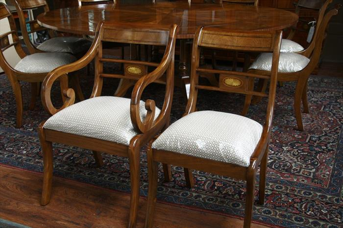 Duncan Phyfe Dining Chairs Solid Mahogany Rock Ebay