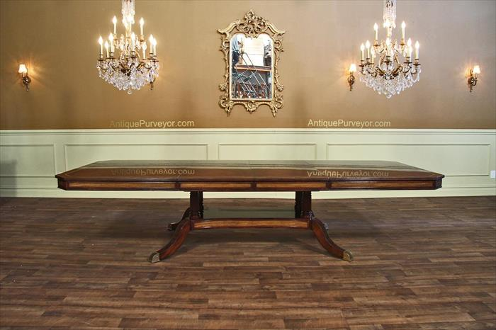 Mahogany dining table or conference table with self for 12 person conference table