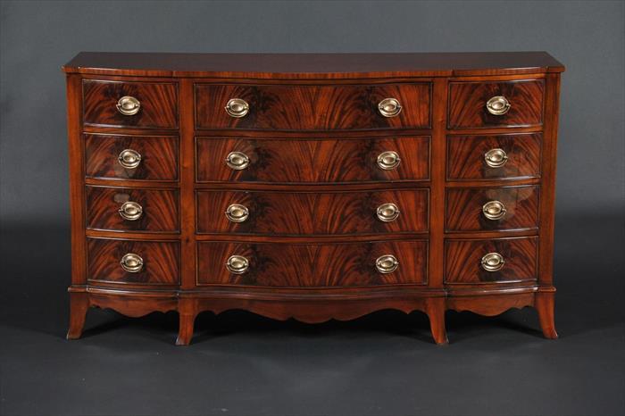 Antique Style Mahogany Bedroom Set / Triple Chest