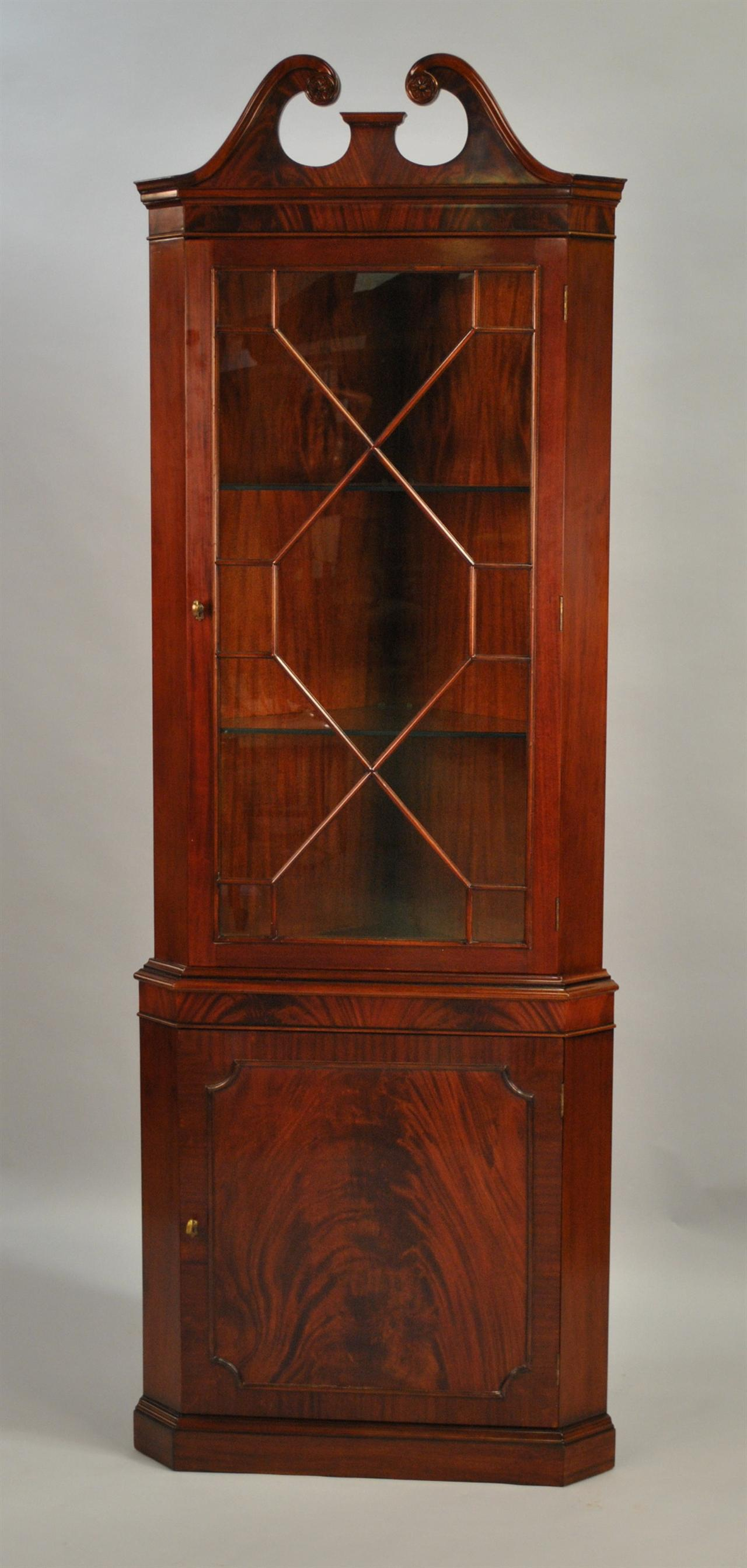 High quality single door mahogany corner cabinet for Corner cabinet