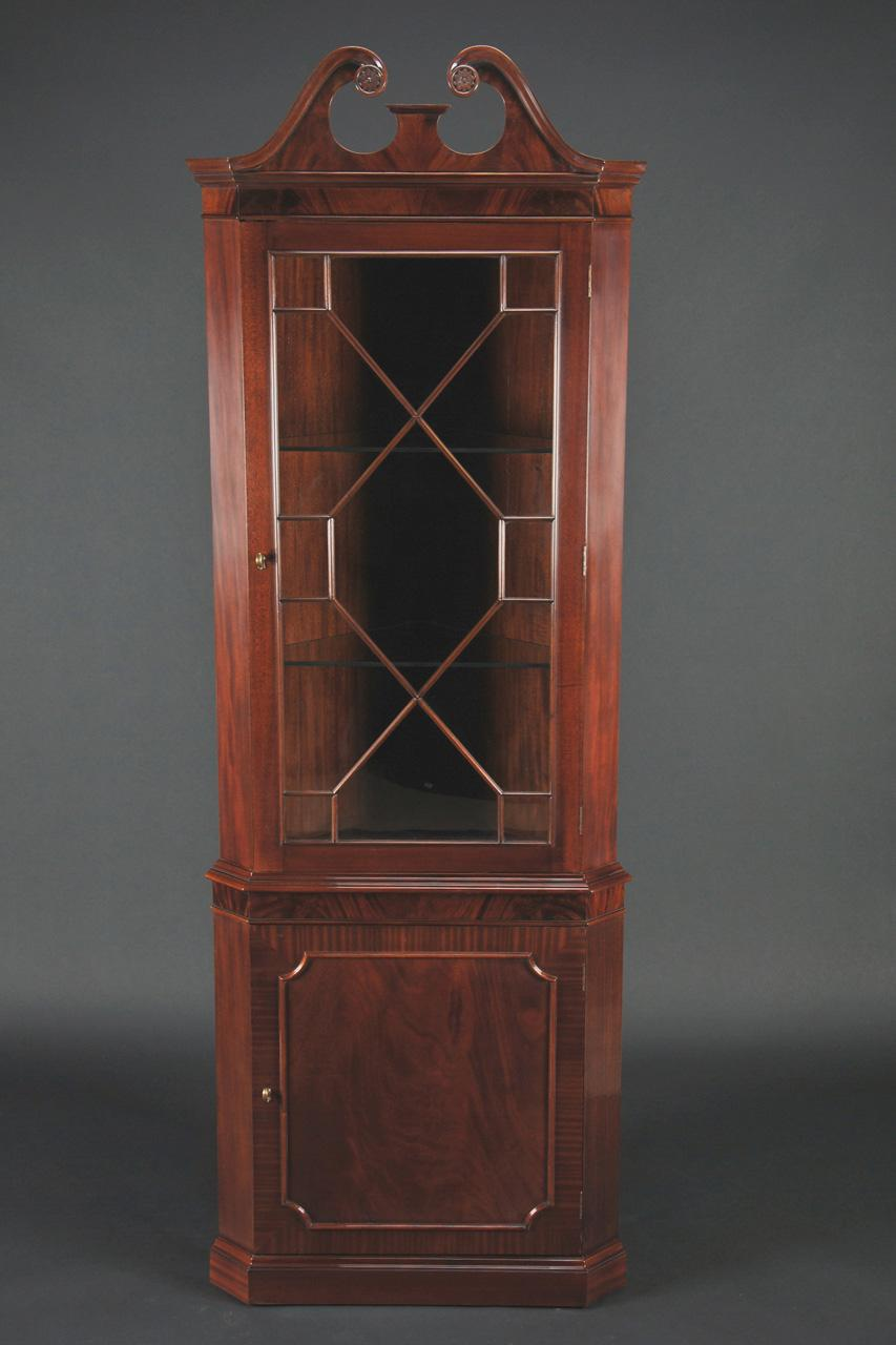 High Quality Single Door Mahogany Corner Cabinet