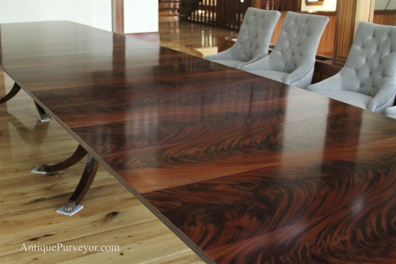 10 39 to 18 39 extra large mahogany dining room triple for 10 ft dining room table