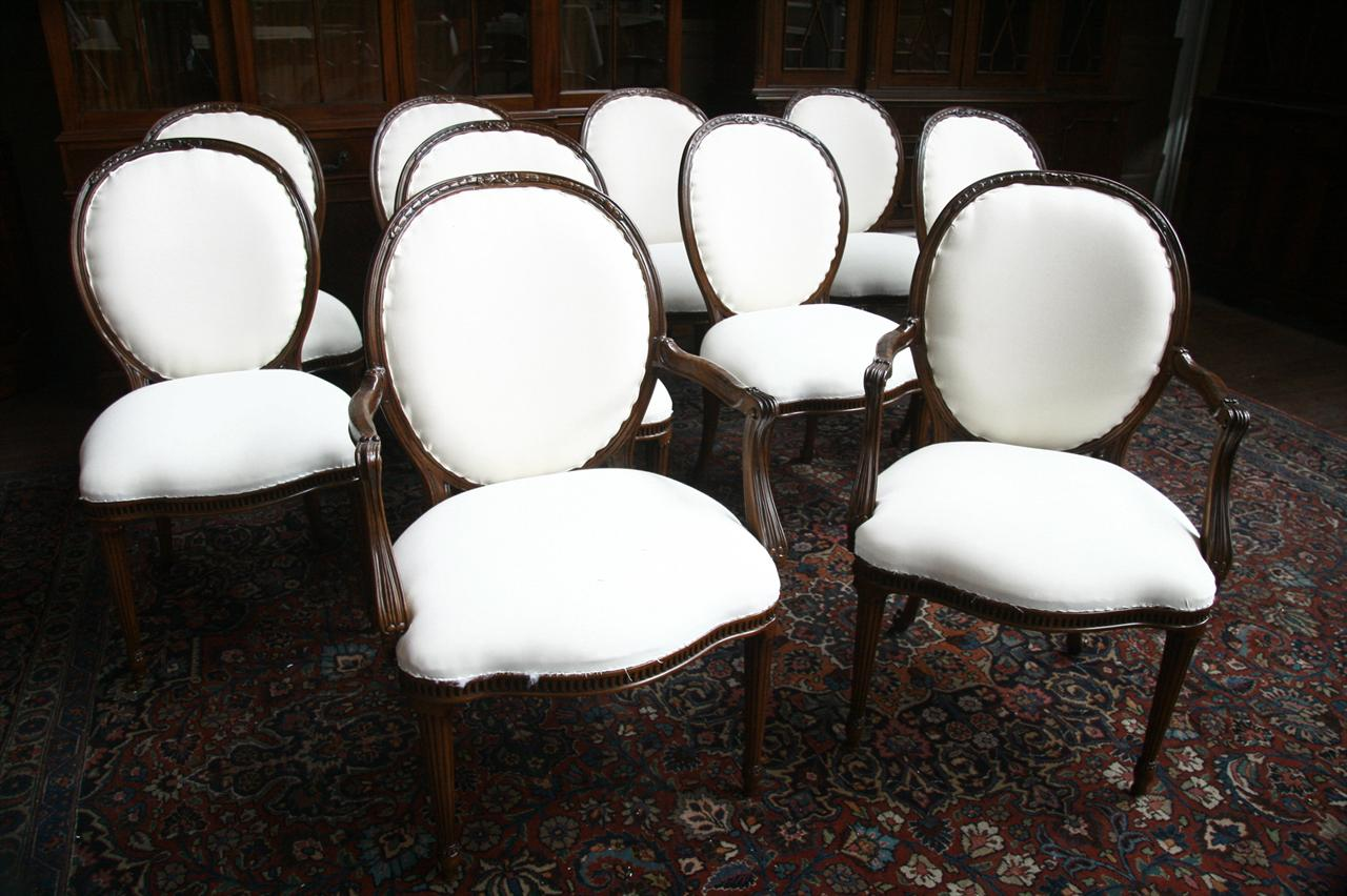 Well-known 10 Upholstered Dining Chairs Cabriole Legs SW83