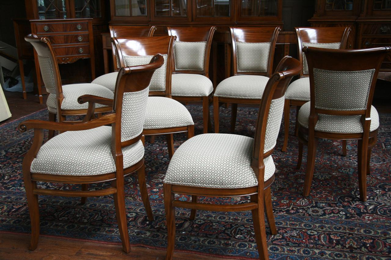 Mahogany dining room chairs with upholstered back ebay for Dining room upholstered chairs