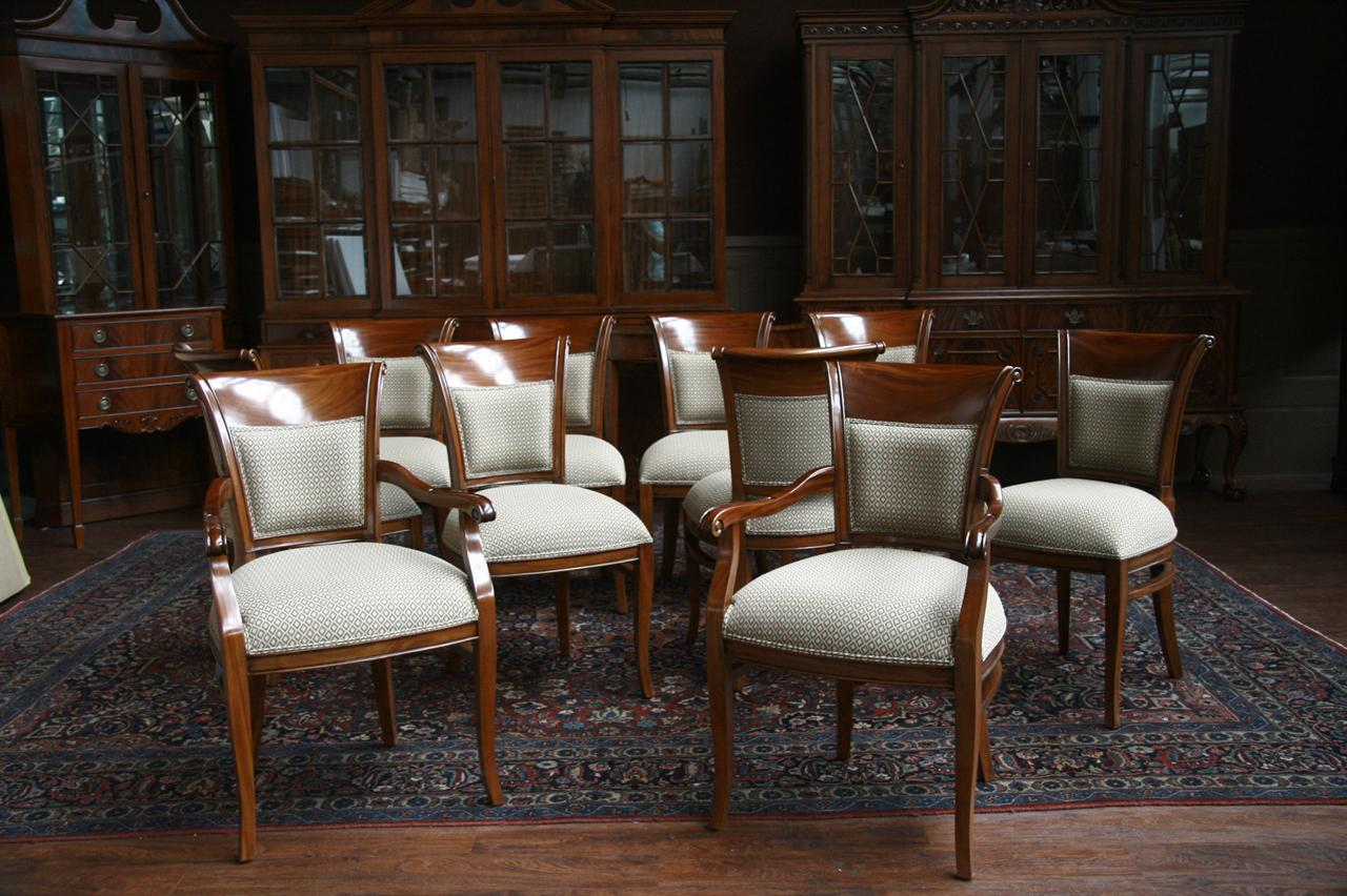 Mahogany dining room chairs with upholstered back ebay for Large dining chairs
