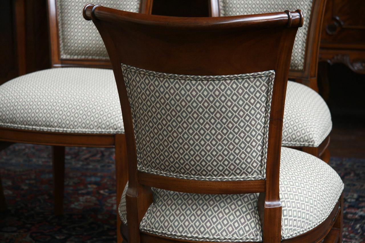 Mahogany dining room chairs with upholstered back ebay for Upholstered dining chairs