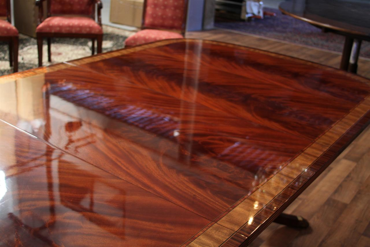 Long High End Mahogany Double Pedestal Dining Table  : 12 foot dining table with 3 leaves high end mahogany pedestal table 5466 from www.ebay.com size 1280 x 853 jpeg 97kB