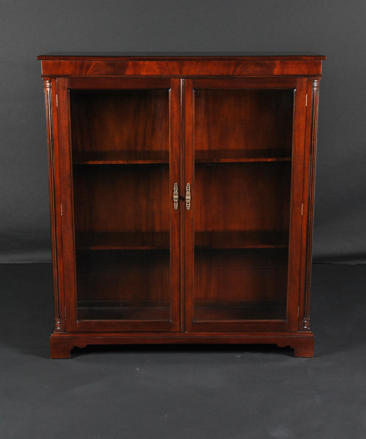 2 Door Bookcase In Mahogany