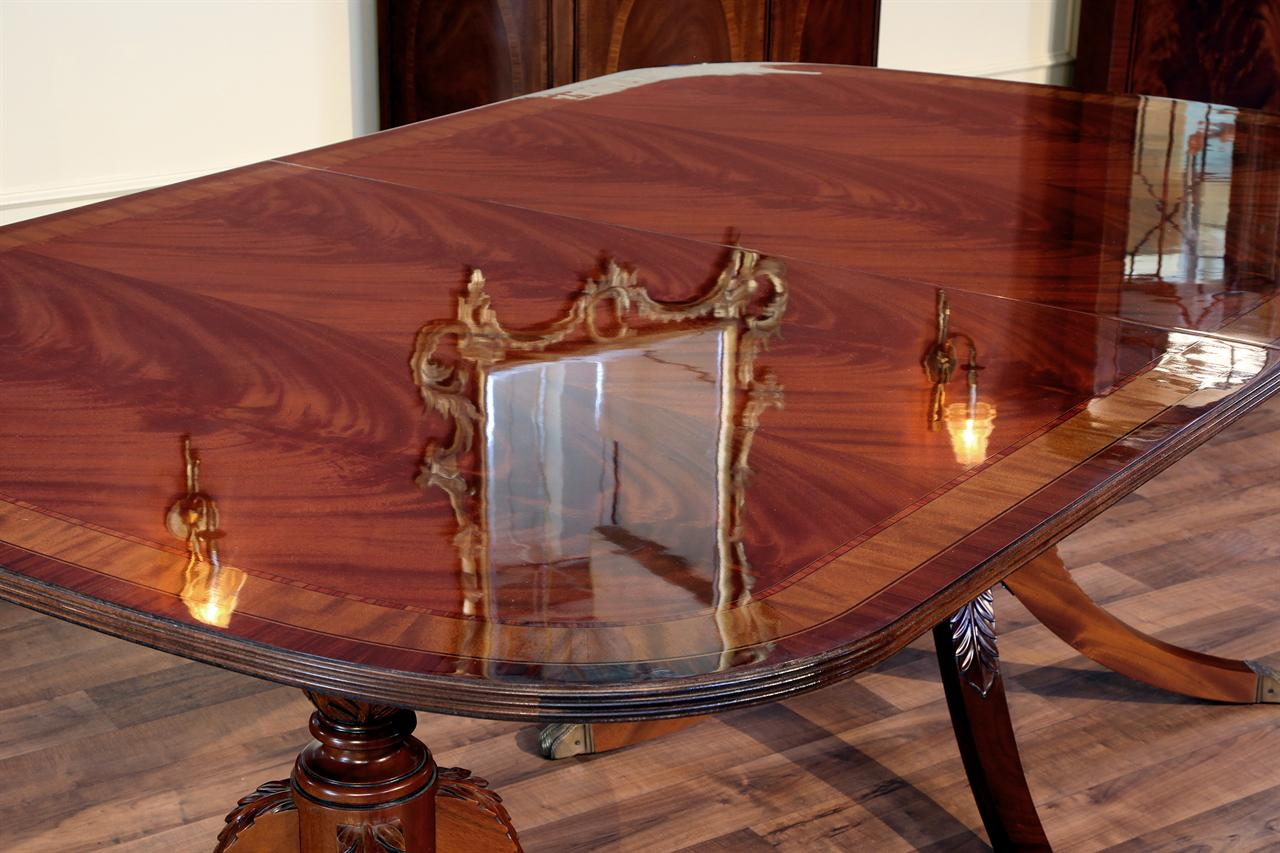 High End Mahogany Dining Table with Three Leaves eBay : 3 leaf table with 4 leg pedestal 4038 from ebay.com size 1280 x 853 jpeg 134kB