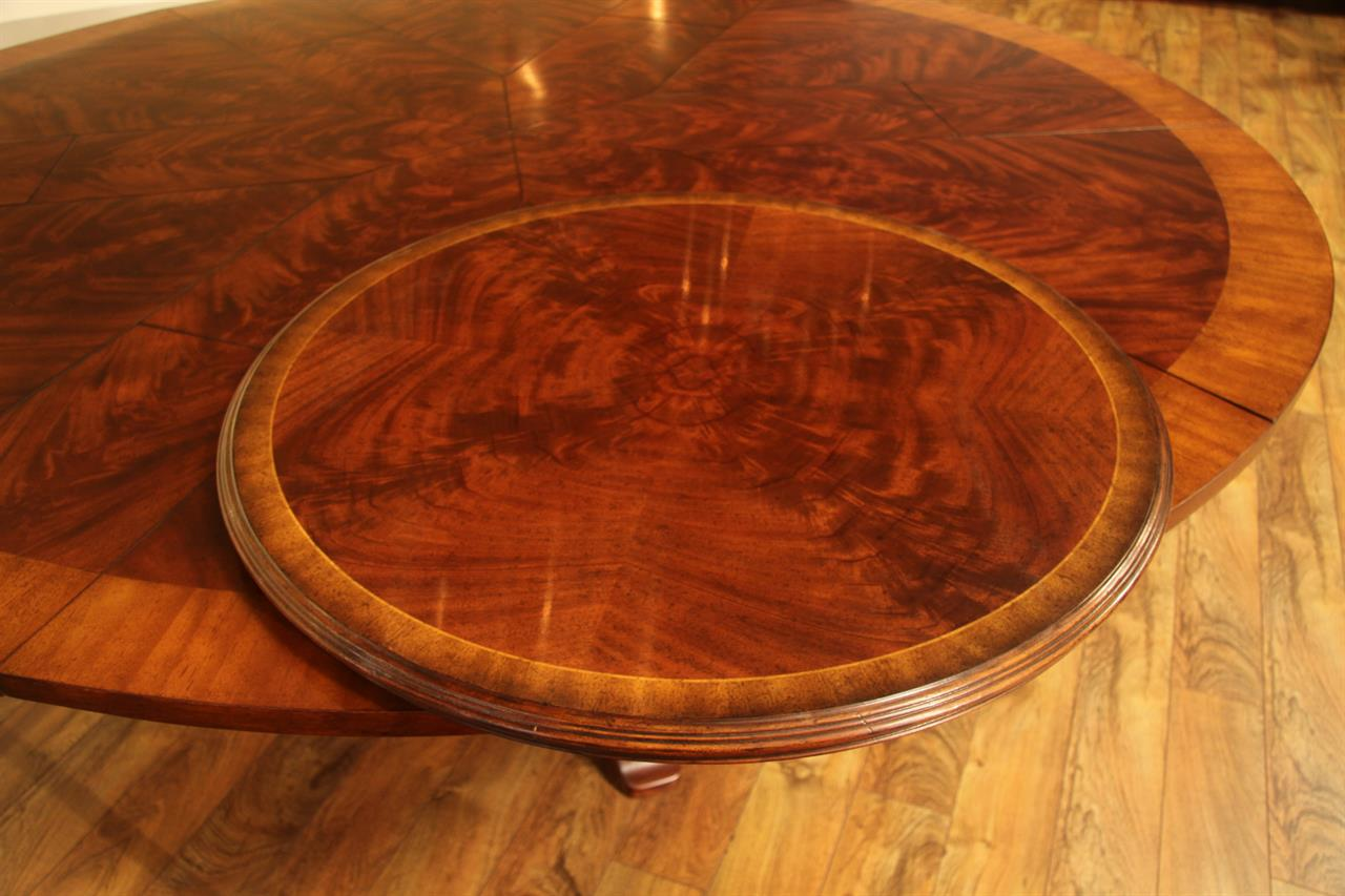 32 Inch Pie Cut Flame Mahogany Lazy Susan