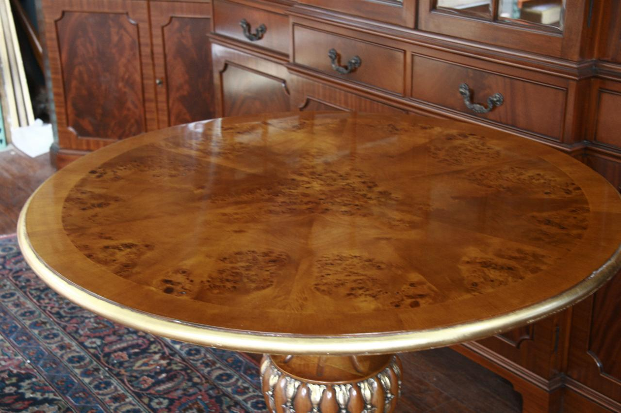 40 Round Pedestal Table Gold Leaf Accent Table