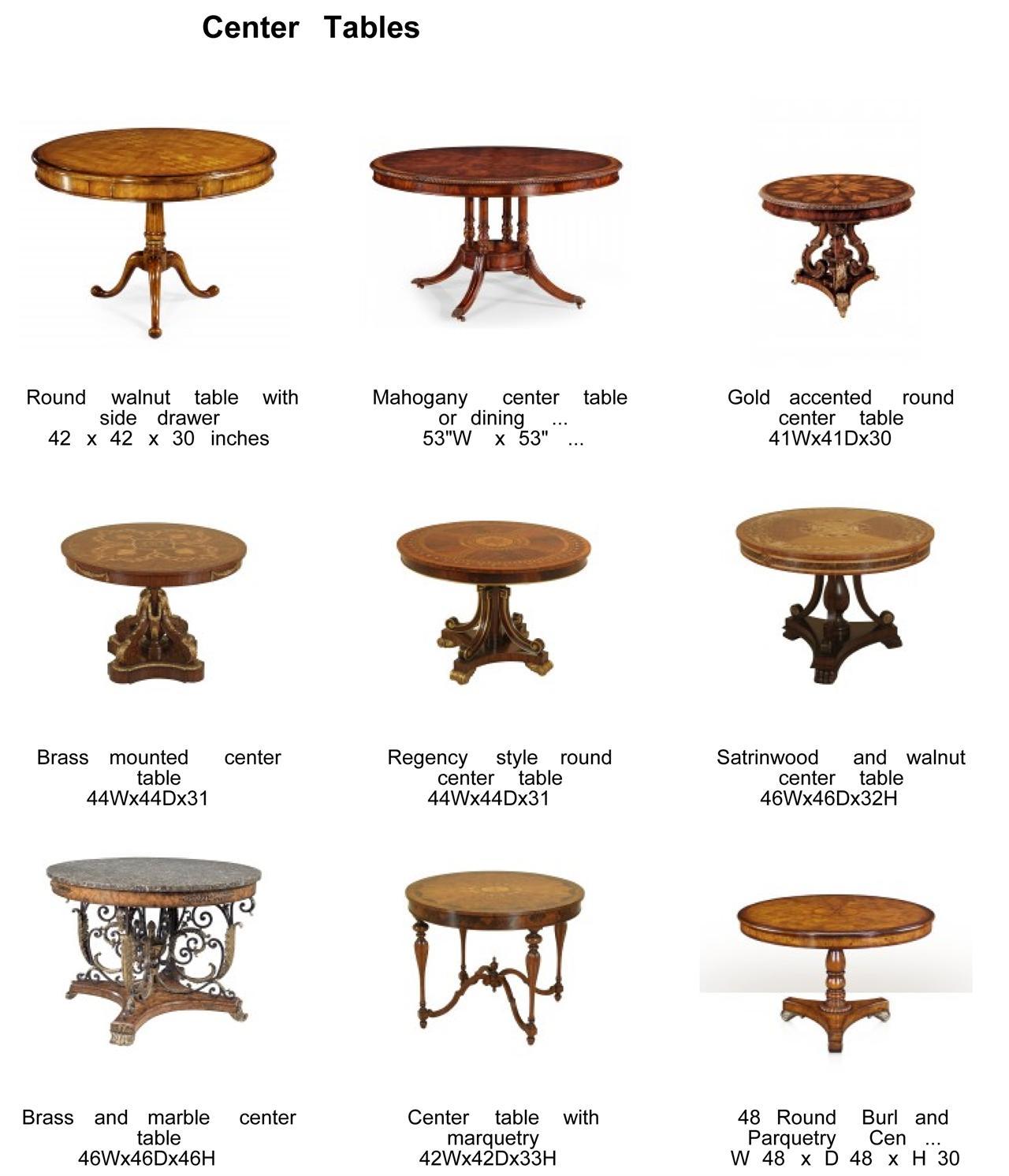 Mahogany & Walnut Foyer Table | Antique Style Round Table