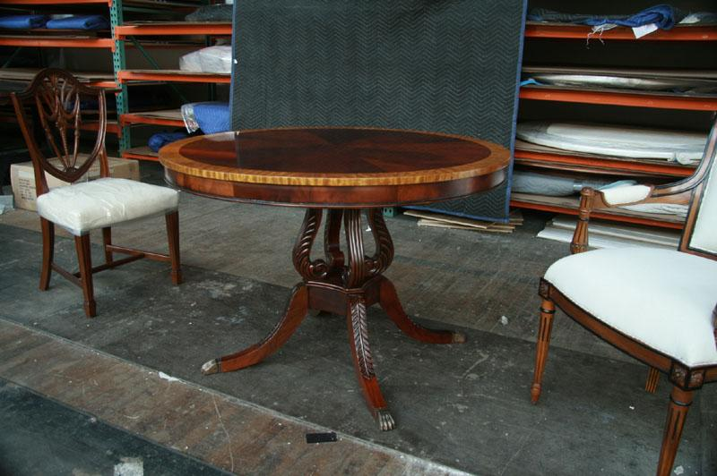 round mahogany pedestal dining table 44 reproduction antique dining
