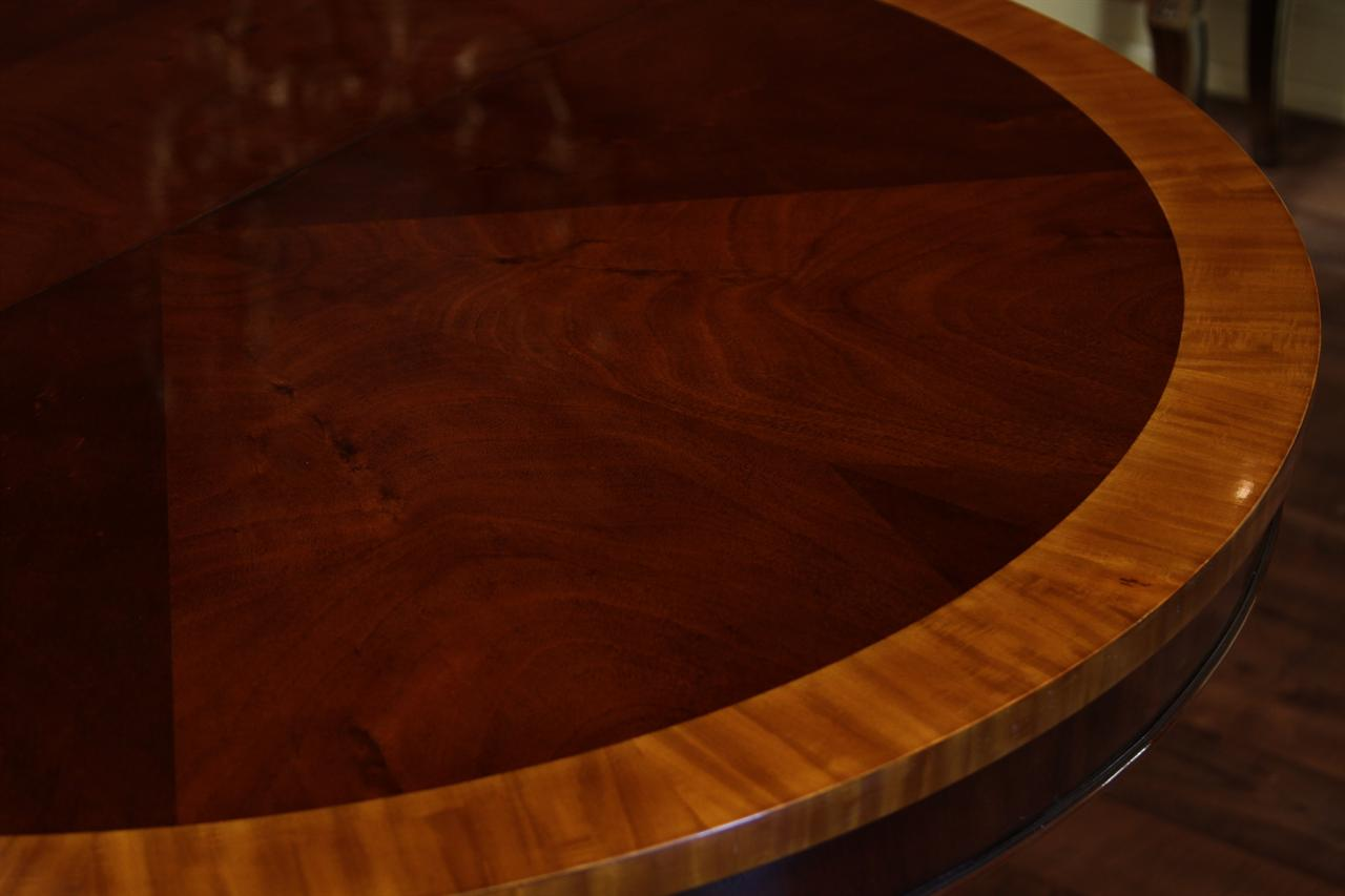 44 round dining room table 1 leaf round mahogany pedestal table 5641